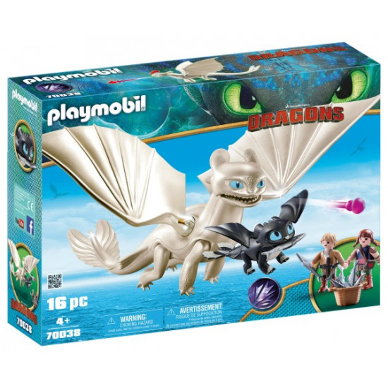 70038 Playmobil Λευκή Οργή κι ένας Δρακούλης με τα παιδιά