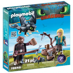 70040 Playmobil Ψάρης και Άστριντ με ένα Δρακούλη