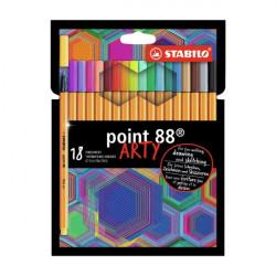 ΜΑΡΚΑΔΟΡΟΙ STABILO point 88 ARTY SET 18 ΤΕΜ